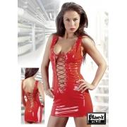 Vinyl Dress red